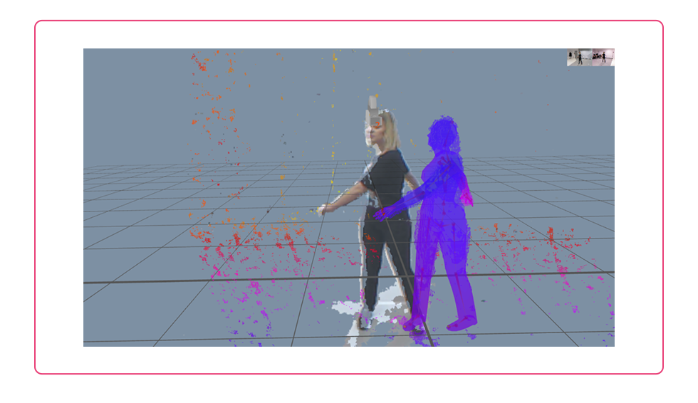 streamer using a motion capture system to create a 3D vtuber avatar to vstream