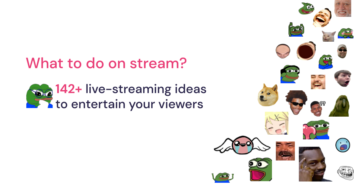 Fun things to do on a live stream - a content ideas generator for streamers