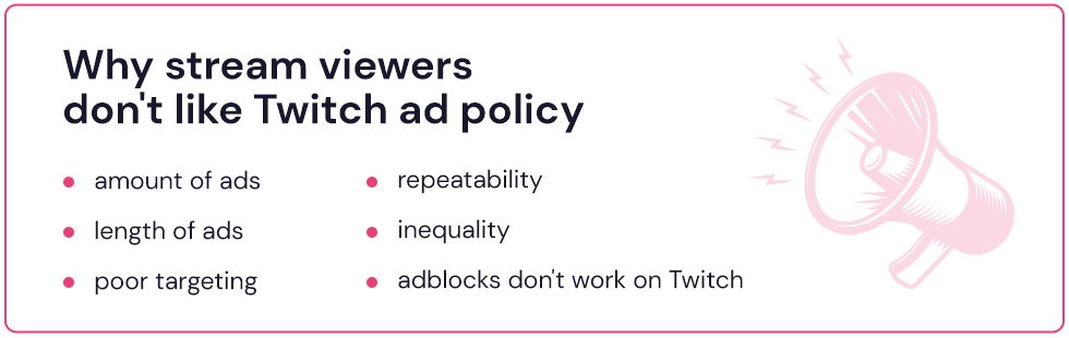 why stream viewers don't like Twitch ads and use adblock